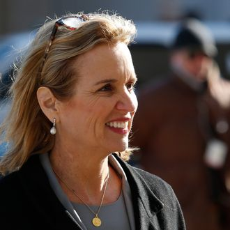 Kerry Kennedy, daughter of assassinated Senator Robert F. Kennedy and the ex-wife of New York Governor Andrew Cuomo, arrives to the Westchester County Courthouse in White Plains, New York, February 24, 2014. Kennedy, 54, is charged with one count of driving while impaired, a misdemeanor. No one was injured in the accident in a suburb of New York City. Kennedy initially said a partial seizure was to blame but a toxicology report showed that she had sleeping medication in her system.