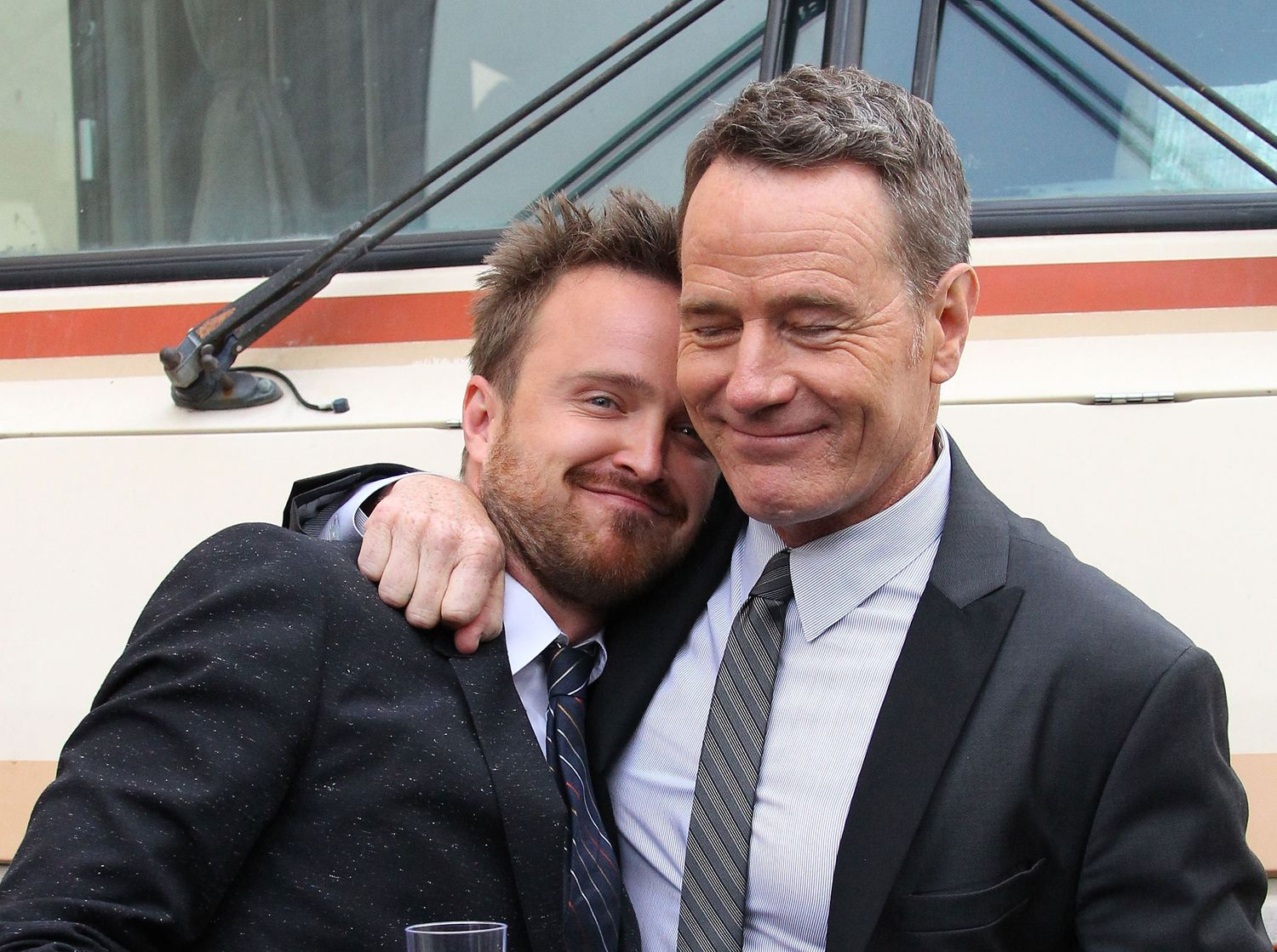 Photo of Bryan Cranston & his friend  Aaron Paul