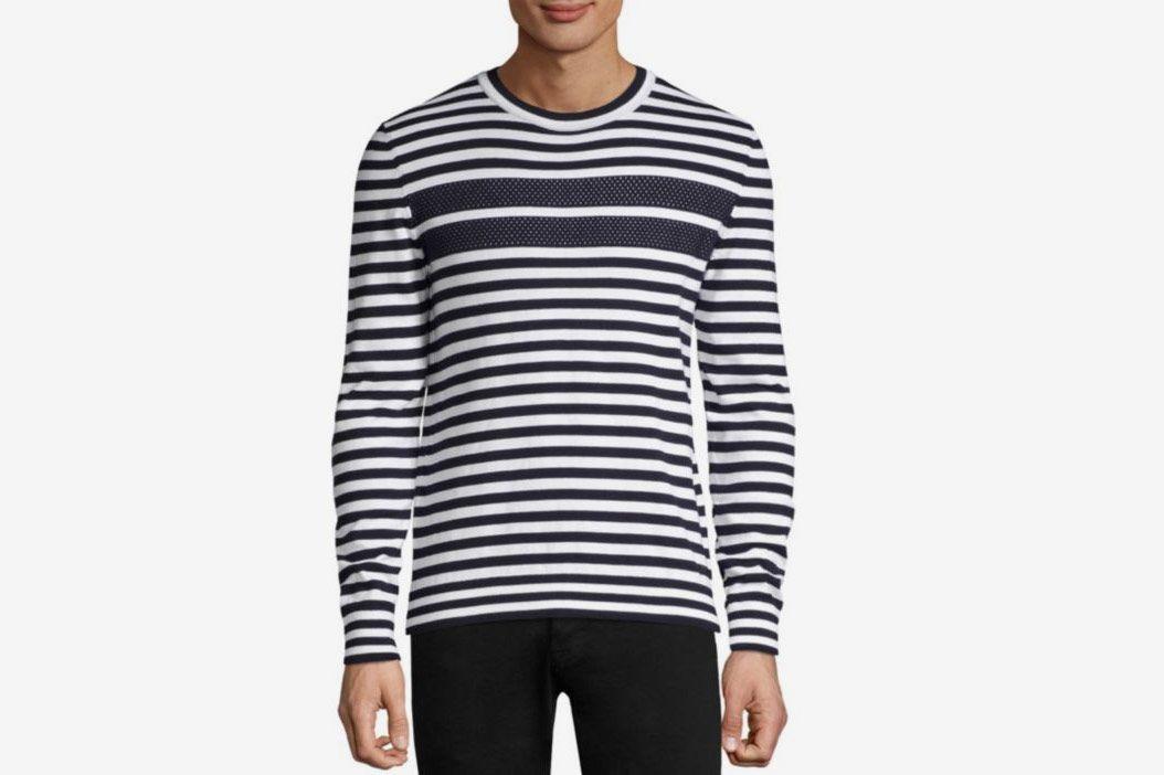 HUGO Stefo Striped Crewneck Sweater