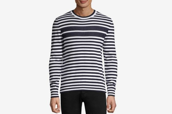 HUGO Stefo Striped Crewneck Sweater