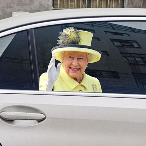 Viugreum Queen Elizabeth Car Decal Sticker