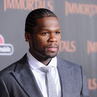 LOS ANGELES, CA - NOVEMBER 07: Rapper 50 Cent arrives at Relativity Media's
