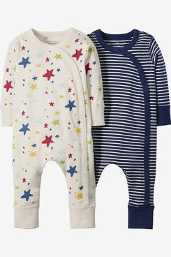 Moon and Back by Hanna Andersson Baby/Toddler Organic 2 Pack Long Sleeve Romper