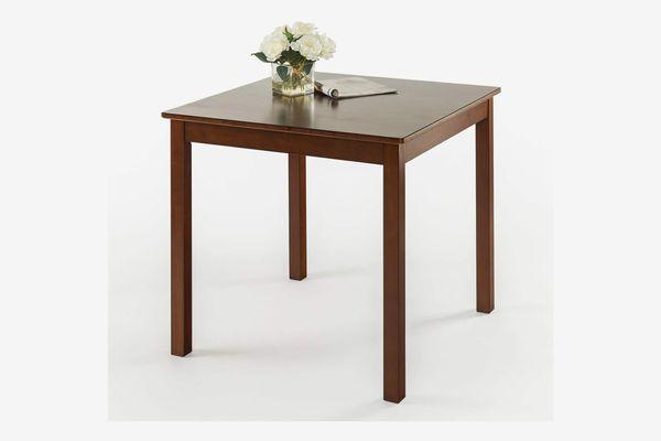 Zinus Nhi Espresso Wood Square Dining Table