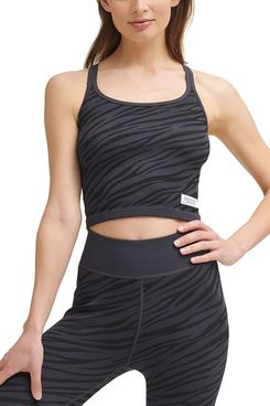 Calvin Klein Performance Women's Textured Zebra-Print Crop Top