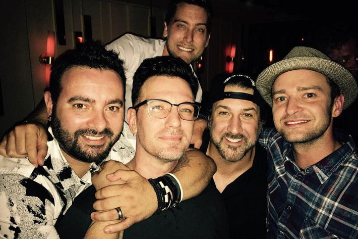 JC Chasez and the rest of 'N Sync.