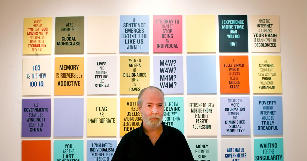 Douglas Coupland on Being a Visual Artist, the 'Torture' of Interviews, and Unintended Side Effects
