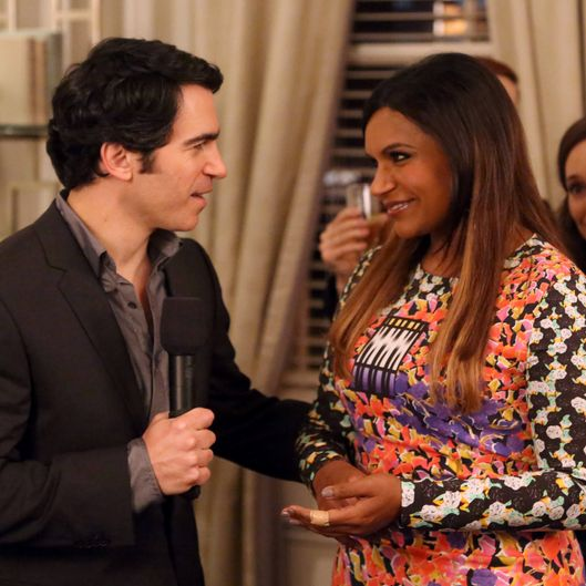 "THE MINDY PROJECT:  Mindy (Mindy Kaling, R) and Danny (Chris Messina, L) welcome guests to the opening party for Mindy's new fertility clinic in the ""Fertility Bites"" episode of THE MINDY PROJECT airing Tuesday, March 3 (9:30-10:00 PM ET/PT) on FOX. ?2015 Patrick McElhenney/FOX"