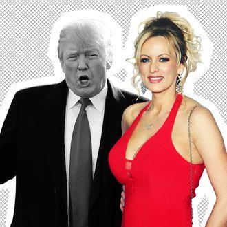 President Donald Trump and adult-film star Stormy Daniels.
