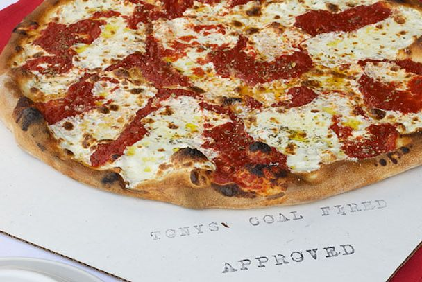 "<b>Margherita</b>    <a href=""http://www.tonyspizzanapoletana.com/"">Tony's Coal-Fired Pizza and Slice House</a>    <i>San Francisco</i>  Tony Gemignani is a man of firsts: He was the first American to win the coveted Best Pizza Margherita award at the World Pizza Cup in Naples (yes, that's a thing). And he was one of the first to open a coal-fired, New York–style pizza spot in San Francisco. Be prepared to wait; he's got a cult following."