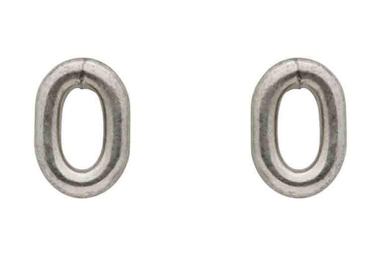 Sophie Buhai  Silver Oval Stud Earrings