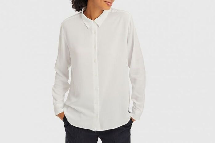 Uniqlo Rayon Long-Sleeve Blouse