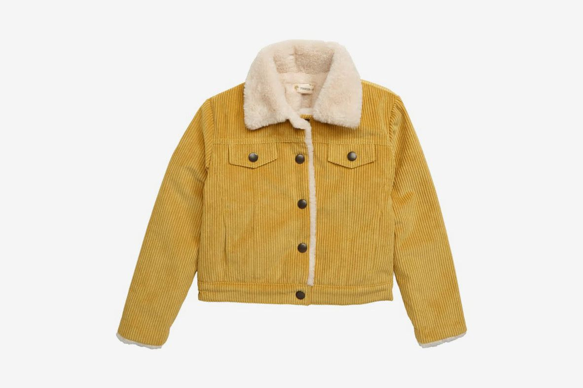Tucker + Tate Faux Fur Collar Corduroy Jacket
