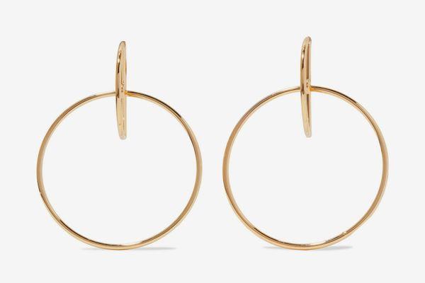 Kenneth Jay Lane gold earrings