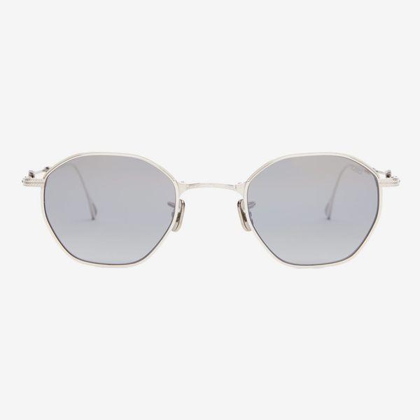 Eyevan 7285 Engraved Octagonal Metal Sunglasses