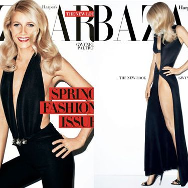 Gwyneth Paltrow, shot by Terry Richardson for the March issue of <em>Harper's Bazaar</em>.