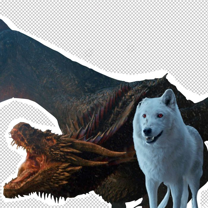 Drogon and Ghost.