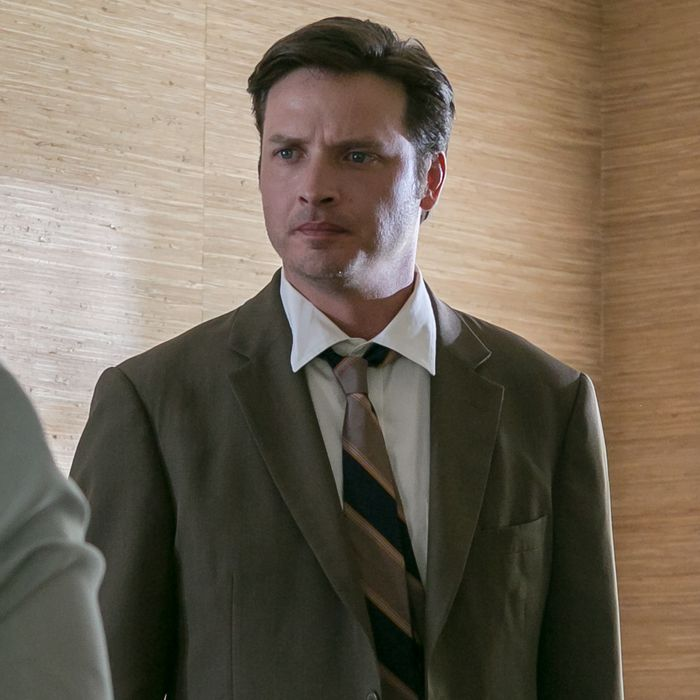 L to R, J Smith Cameron and Aden Young - in the SundanceTV original series