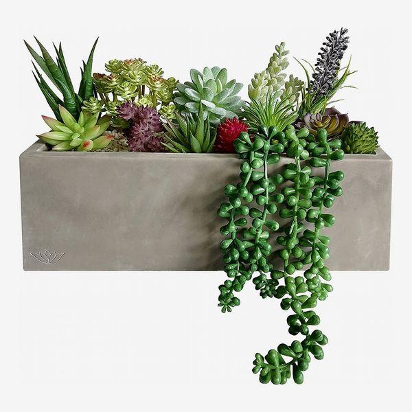 GreenBoxx Artificial Succulent Planter Arrangement Garden