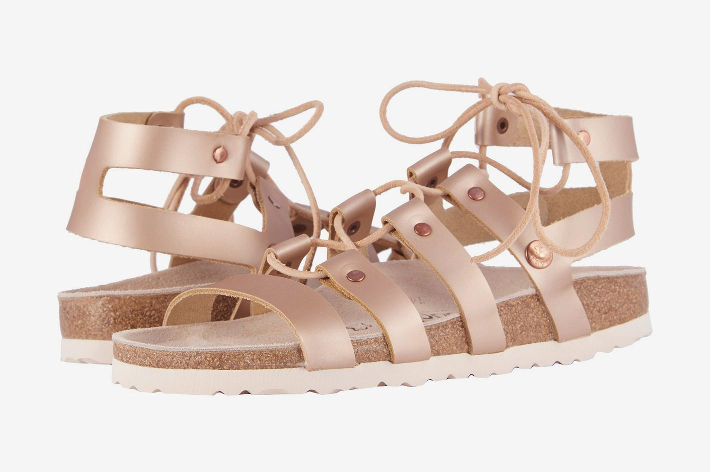 Birkenstock Cleo Frosted Metallic Rose