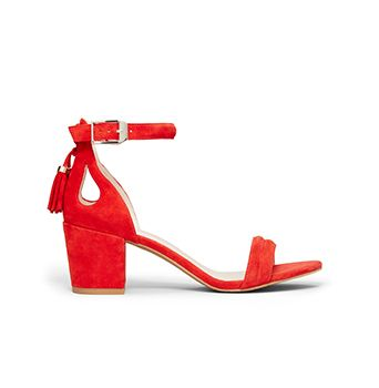 Harriet Suede Block Heel