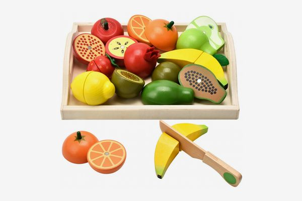 CARLORBO Wooden Toys for 2 Year Old - Pretend Play Food