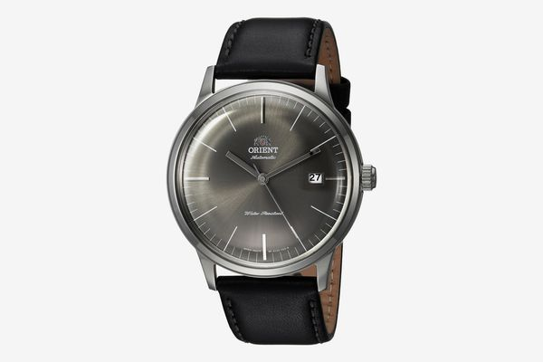 Orient Men's FAC0000CA0 'Bambino 2nd Generation' Automatic Black Leather Watch