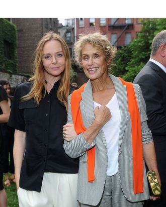 Stella McCartney and Lauren Hutton.