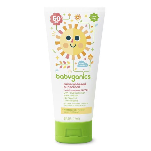 Babyganics Mineral-Based Sunscreen Lotion SPF 50, Pack of 2