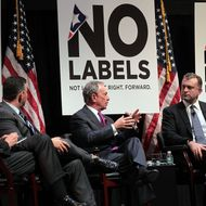 NEW YORK, NY - DECEMBER 13:  New York City Mayor Michael Bloomberg (2nd R) speaks on a panel which includes moderator Michael Castle (R), California Lt. Governor Abel Maldonado (2nd L) and U.S. Rep. Michael Castle (R-DE) at the launch of the unaffiliated political organization known as No Labels December 13, 2010 at Columbia University in New York City. The event features numerous politicians, journalists and citizens in a series of panels which address some of the most intractable political issues in America. Led by Republican political consultant Mark McKinnon, Democratic consultant Kiki McLean, political advisor Nancy Jacobson and CNN contributor John Avlon, the group looks to find solutions to problems partly by getting politicians to put aside their partisan behavior in order to find common ground.  (Photo by Spencer Platt/Getty Images) *** Local Caption *** Abel Maldonado;Michael Castle;Charlie Crist;Michael Bloomberg