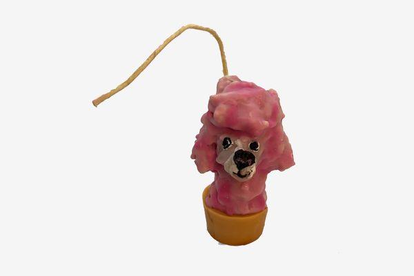 Janie Korn Poodle Candle