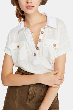 Free People Graceland tee, soft material, Ivory
