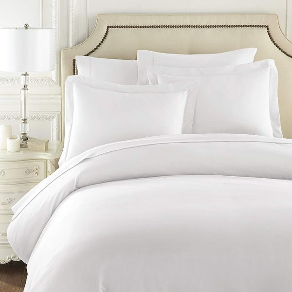 Special New Luxurious Hotels Series 600 TC 3 Pieces Embroidered Duvet Cover Set 100/% Organic Egyptian Cotton Queen Solid Embroidered