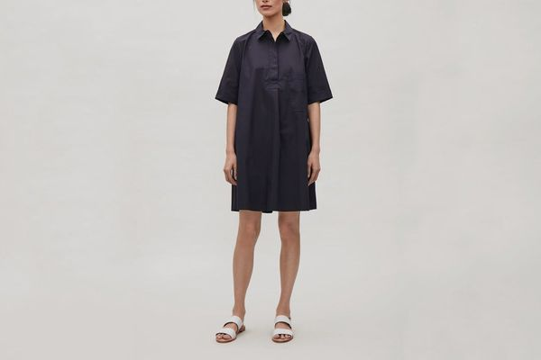 COS A-Line Poplin Shirt Dress