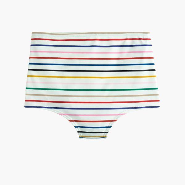 Eco seamless high-waisted bottom in rainbow stripe