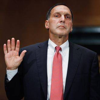 Lehman Brothers former Chairman and CEO Richard Fuld is sworn in before testifying to the Financial Crisis Inquiry Commission about the roots and causes of the 2008 financial and banking meltdown in U.S. and worldwide markets on Capitol Hill September 1, 2010 in Washington, DC.