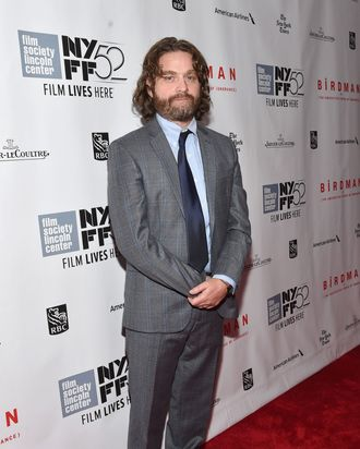 Zach Galifianakis Has Downsized Himself And Now Must Answer Questions About The Mechanics Of His Metabolic Systems A Reporter At E Wanted To Know If This