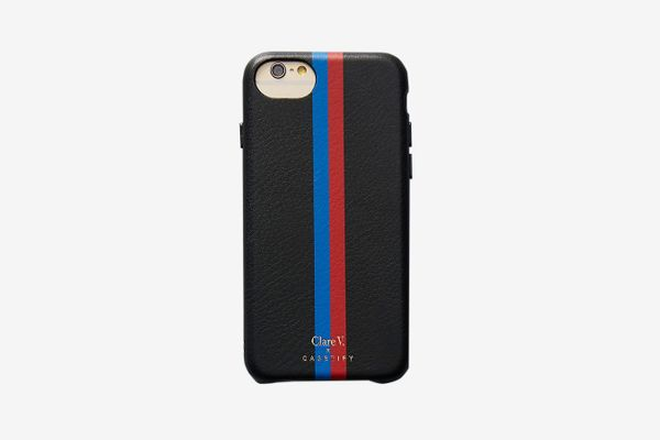 Clare V. x Casetify Striped Leather iPhone Case