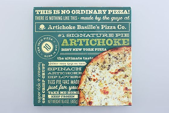 "<b>Artichoke</b>    <a href=""http://www.artichokepizza.com/frozen_pizza.html"">Artichoke Basille</a>    This frozen pizza has the same intense creamy flavor as the love-it-or-hate-it slice in New York (imagine spinach artichoke dip on top of cheesy bread). The crust mimics the original, and it's simultaneously doughy and crispy. If you don't live in Manhattan, this will give you a decent sense of what the well-inebriated patrons line up to eat at night."