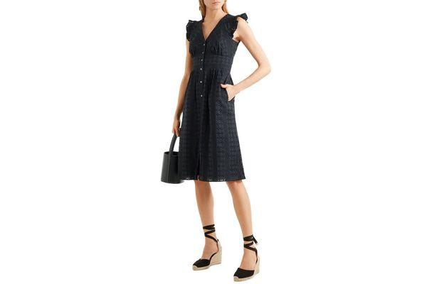 J.CREW Broderie anglaise cotton-poplin dress