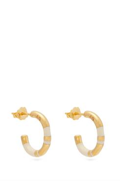 aurelie bidermann small gold plated earrings - strategist fashion summer sale