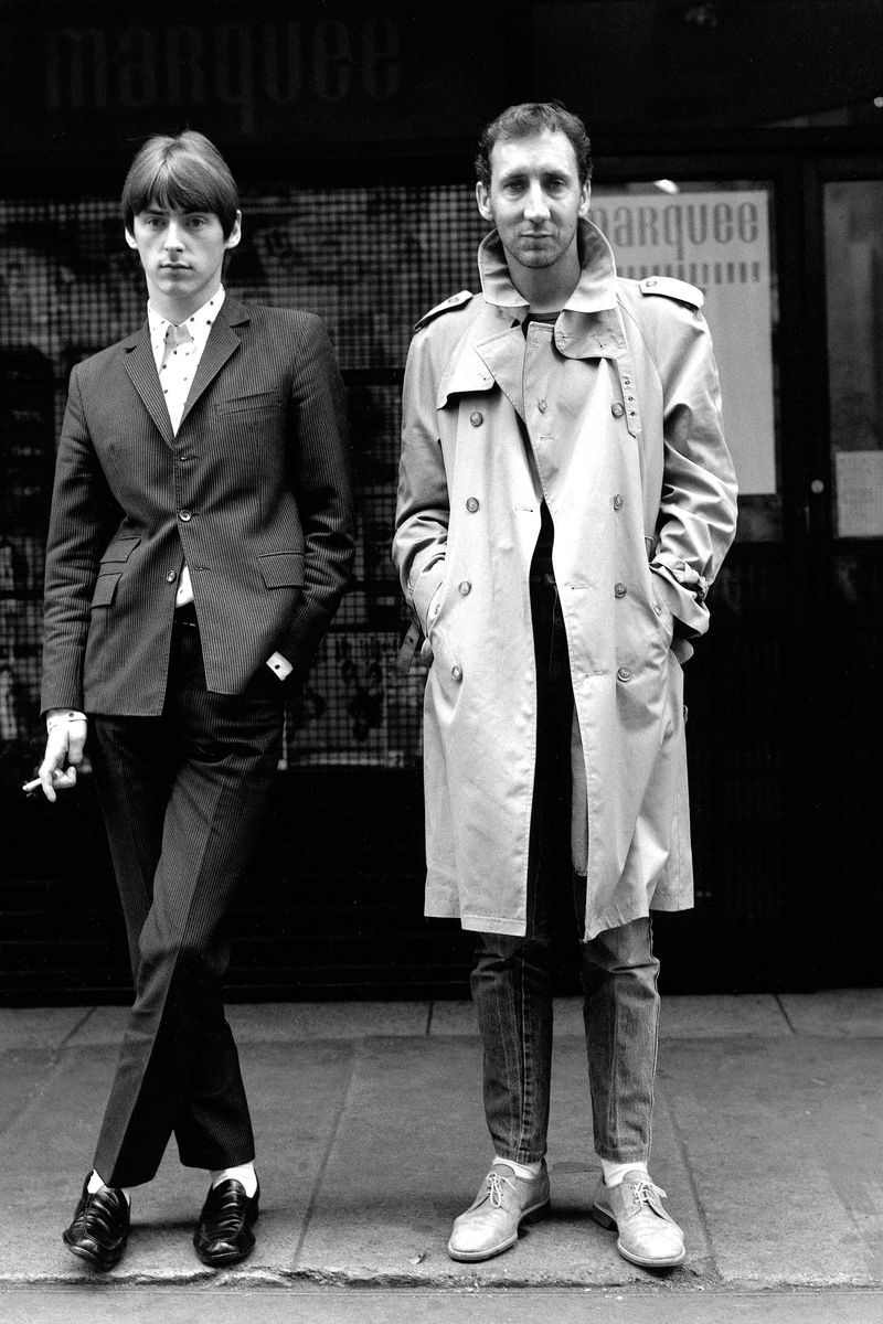 Paul Weller and Pete Townshend in London, 1980