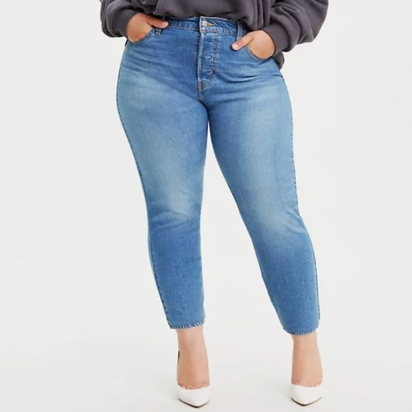 PLUS SIZE WOMENS HIGH WAISTED STRETCHY SKINNY JEANS LADIES DENIM SHORTS PANTS UK