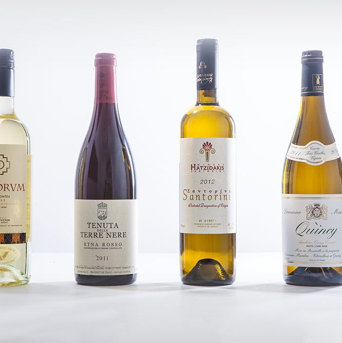 ABC Cocina's $38 Argentinian Torrontés, Costata's $48 Italian Etna Rosso, Alder's $38 Greek Assyrtiko, and Charlie Bird's $40 French Quincy.