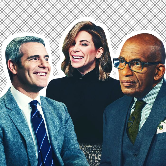 Andy Cohen, Jillian Michaels and Al Roker.