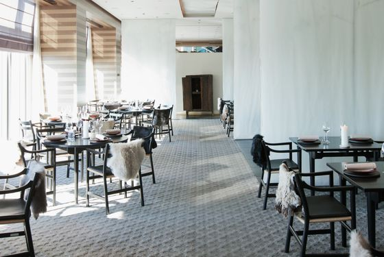 The 37th floor dining room.