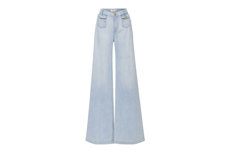 Frame Denim High-Rise Soho Wide-Leg Denim Trousers