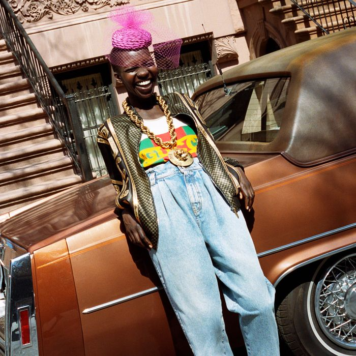 98ee12291fc The legendary Harlem designer made a name for himself in the  80s  customizing luxury brands like Gucci