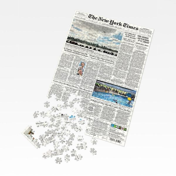 New York Times NYT Front-Page Puzzle, 500 Pieces