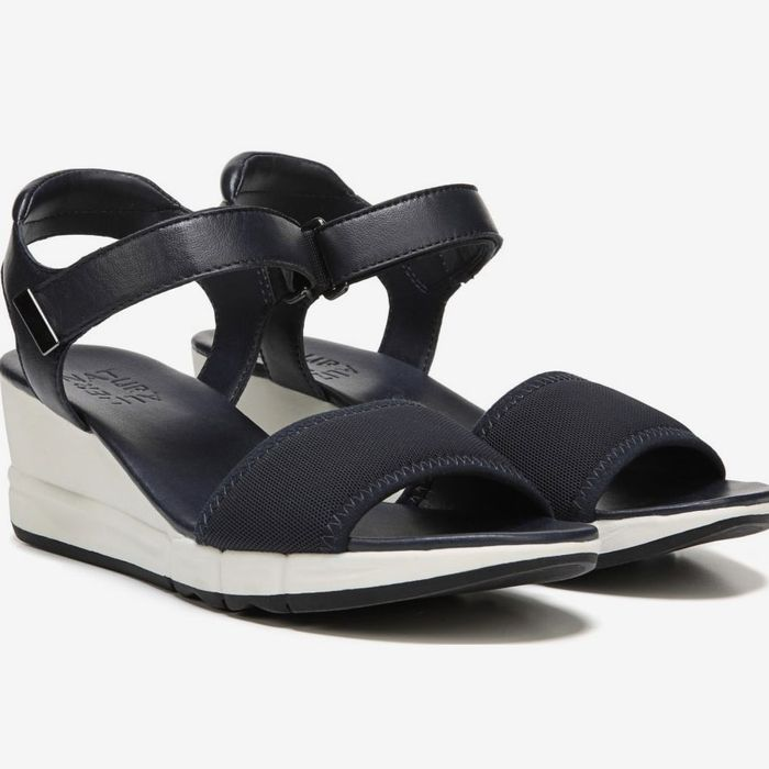 A Naturalizer sandal for the Strategist's roundup on the best wedge sandals for wide feet.